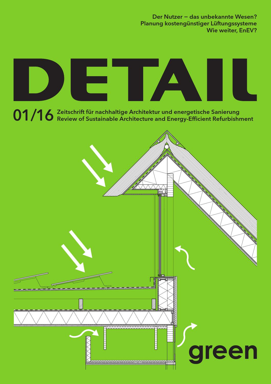 DETAIL Green 01/2016 by DETAIL - issuu