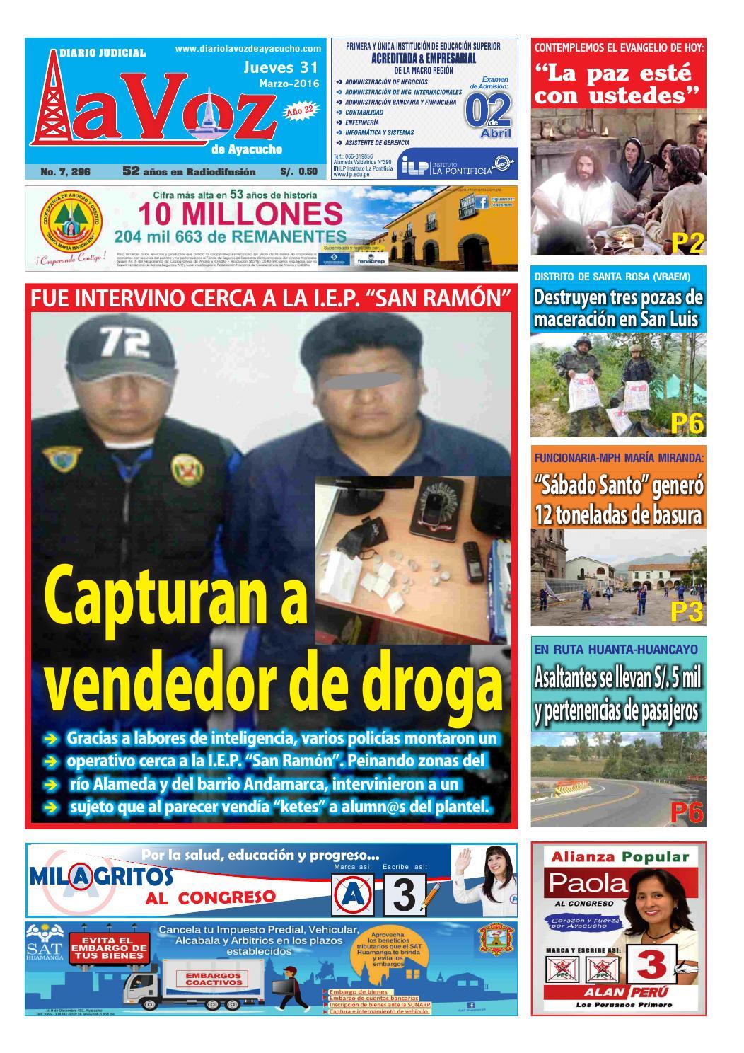 Edicion J 7296 Jueves 31 Marzo 2016 By Diario La Voz De Ayacucho  # Muebles Ludena Chimbote