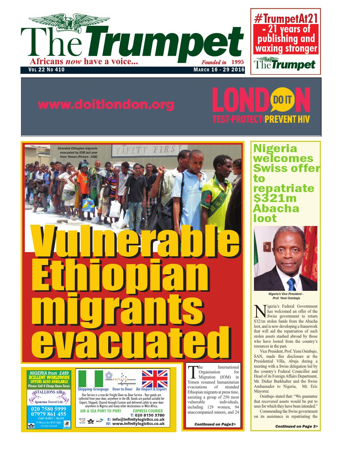 The Trumpet Newspaper Issue 410 (March 16 - 29 2016) by Trumpet