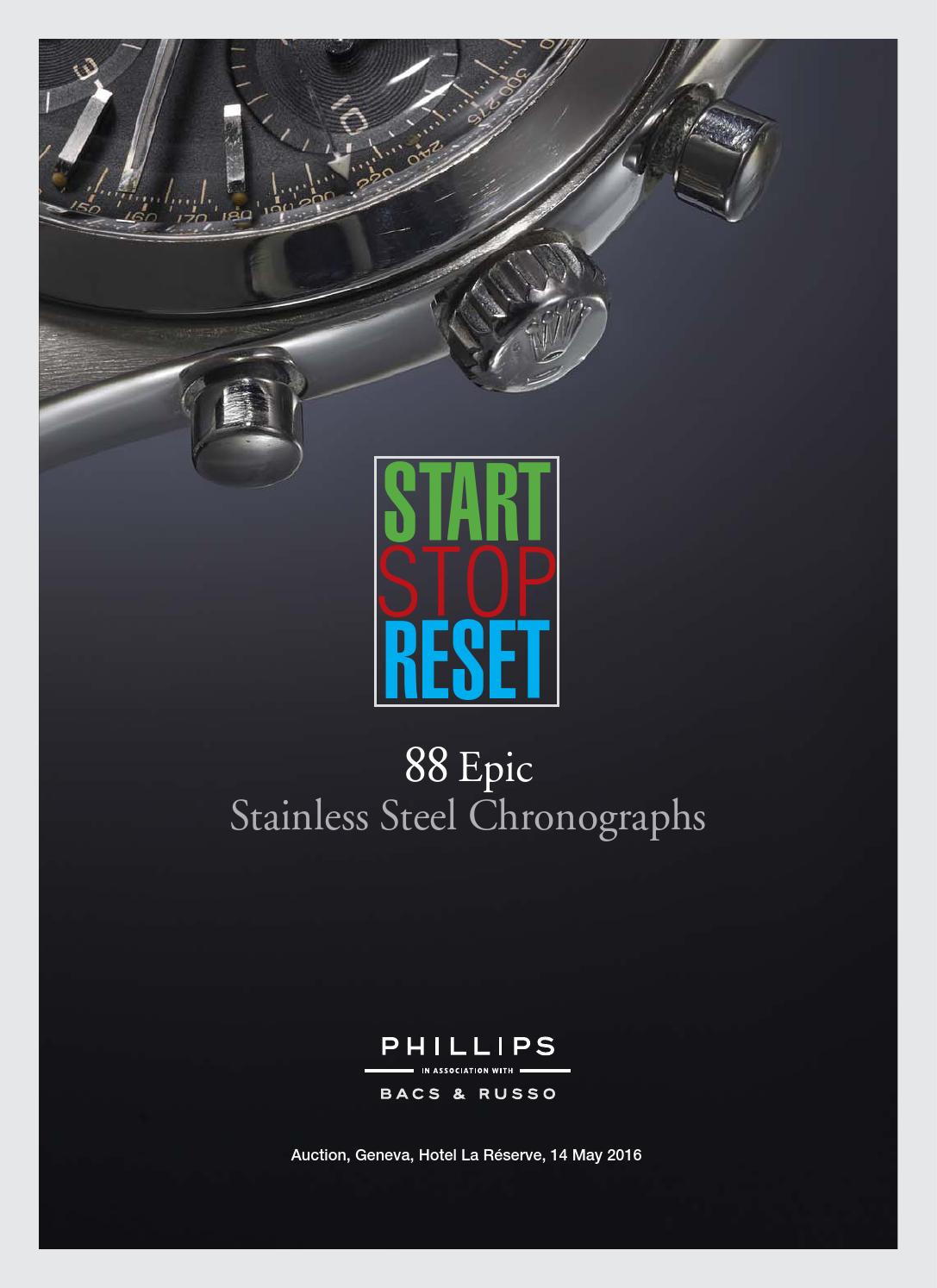 START-STOP-RESET  88 EPIC STAINLESS STEEL CHRONOGRAPHS  Catalogue  by  PHILLIPS - issuu a8f790b87f