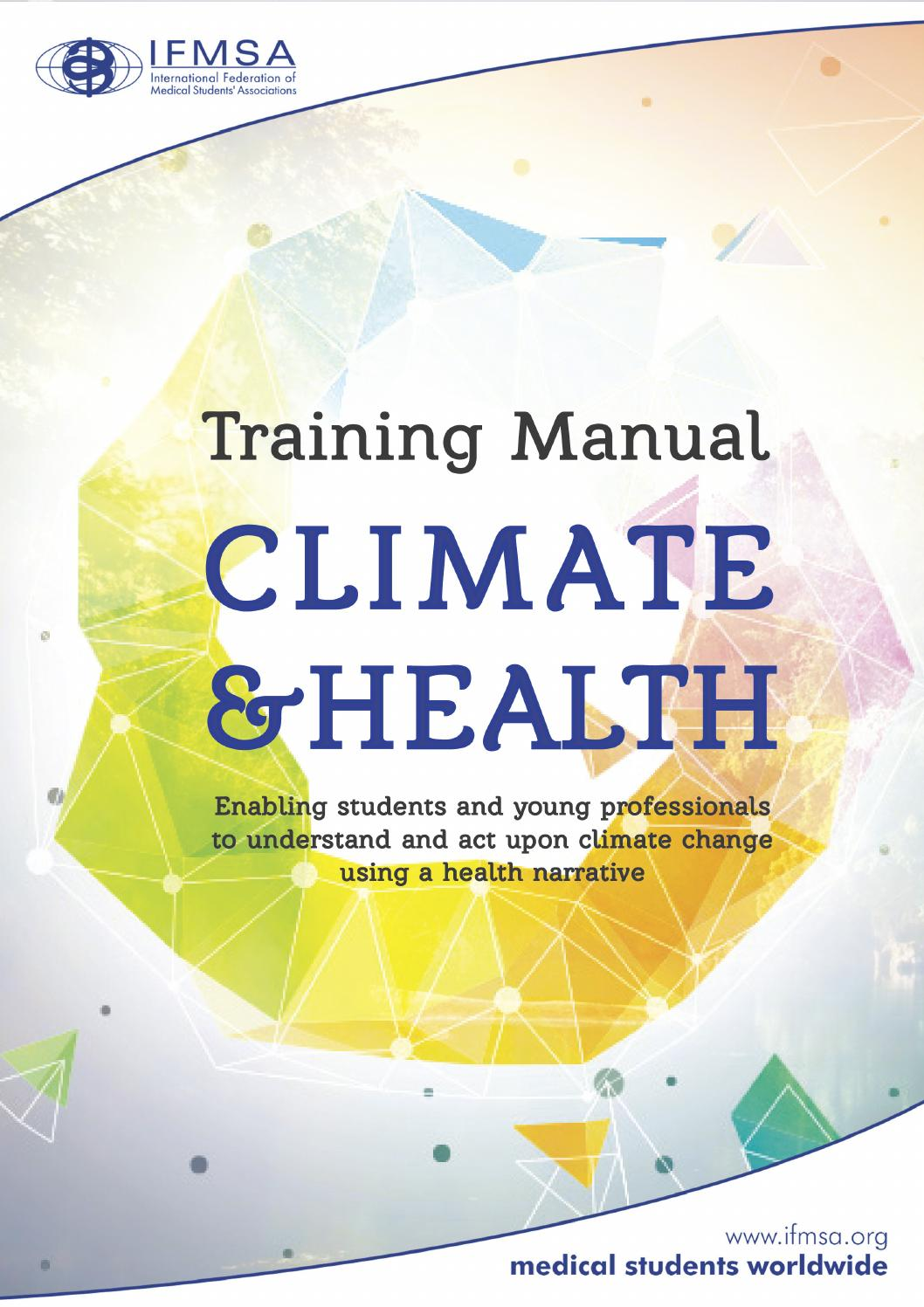 IFMSA Training Manual on Climate & Health by International Federation of  Medical Students' Associations - issuu