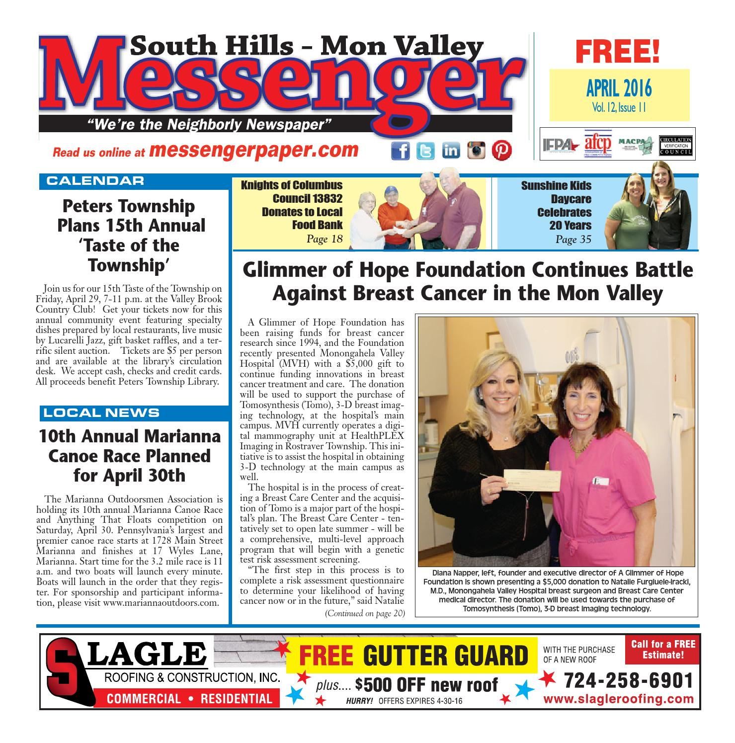 South hills mon valley messenger january 2015 by south hills mon south hills mon valley messenger april 2016 fandeluxe Choice Image