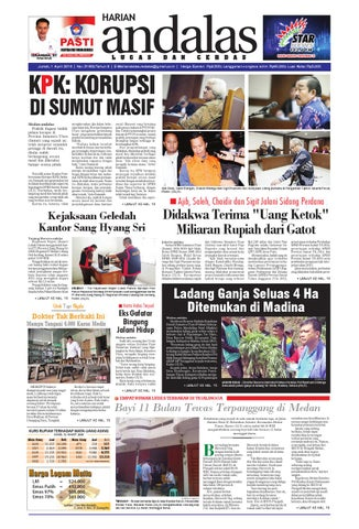 Epaper Andalas Edisi Jumat 1 April 2016 By Media Andalas Issuu
