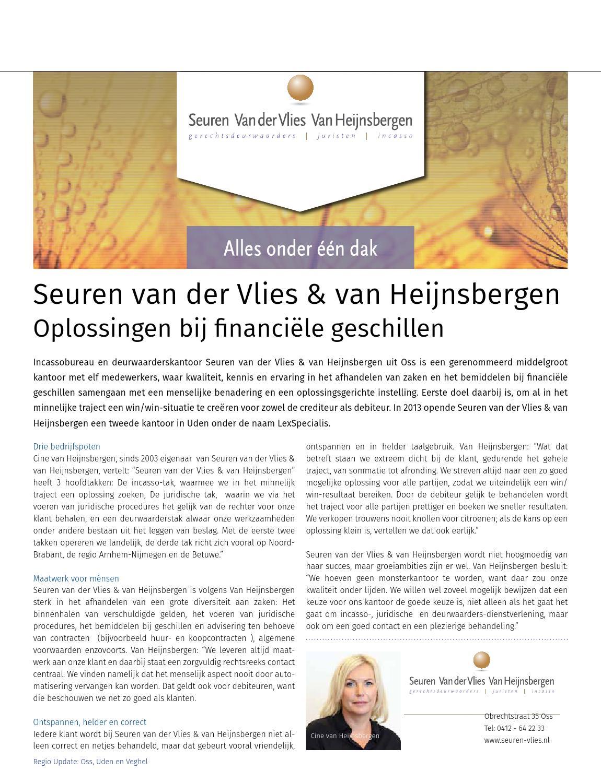 Seuren Van Der Vlies.In2 Maas Waal Nummer 1 2016 By Business Media 4all Issuu
