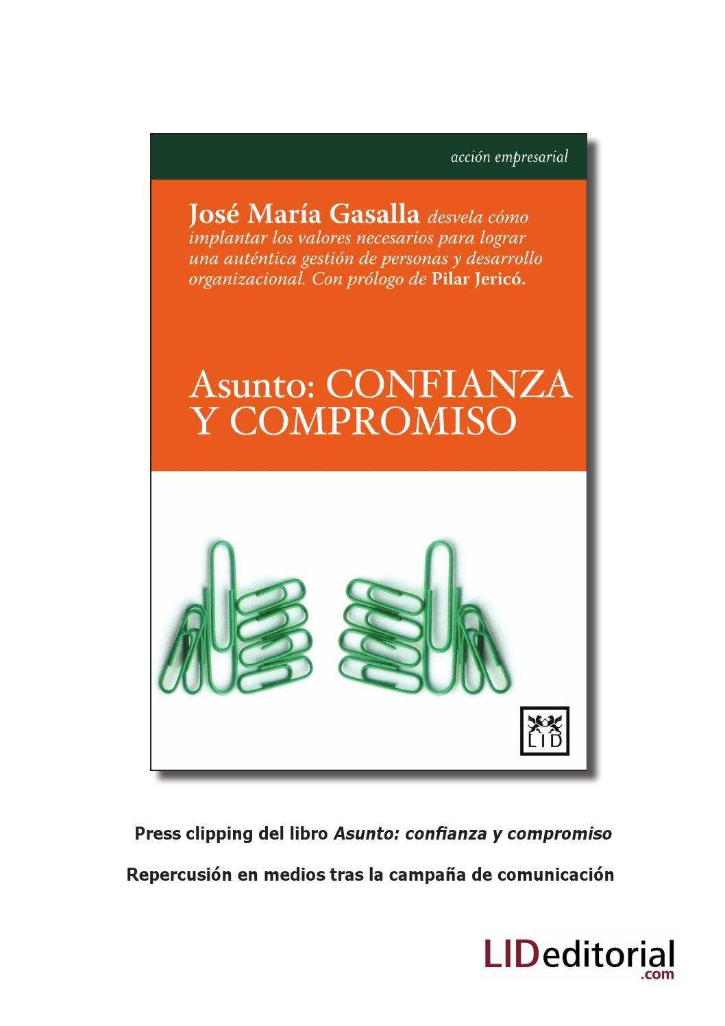 Press clipping del libro Asunto, confianza y compromiso by LID ...