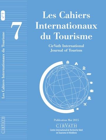Les Cahiers Internationaux du Tourisme 7 by Vatel - issuu bf042484ca23