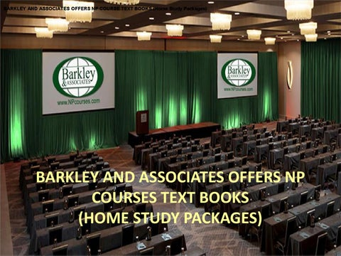 Barkley and associates offers np course text books pdf by for Barkley and associates