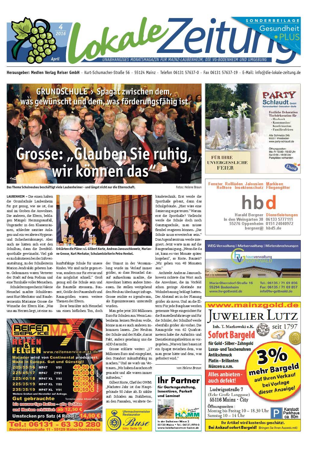 Lokale Zeitung Laubenheim VG-Bodenheim April 2016 by David Weiß - issuu