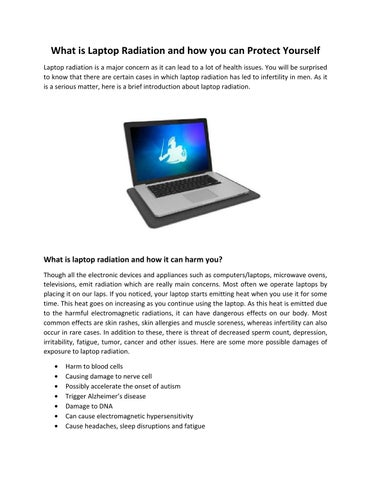 What is Laptop Radiation and how you can Protect Yourself by