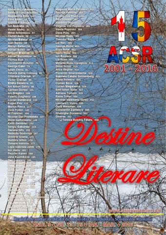 Destine Literare Martie 2016 By Alexandru Cetateanu Issuu