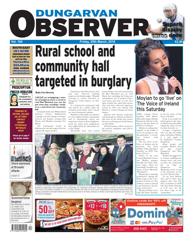 Dungarvan observer 23 2 2018 edition by Dungarvan