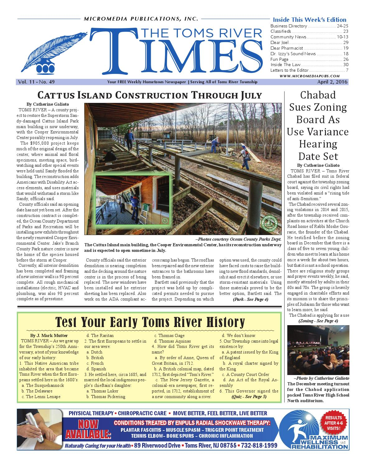 c9c2830647ff 2016-04-02 - The Toms River Times by Micromedia Publications Jersey Shore  Online - issuu