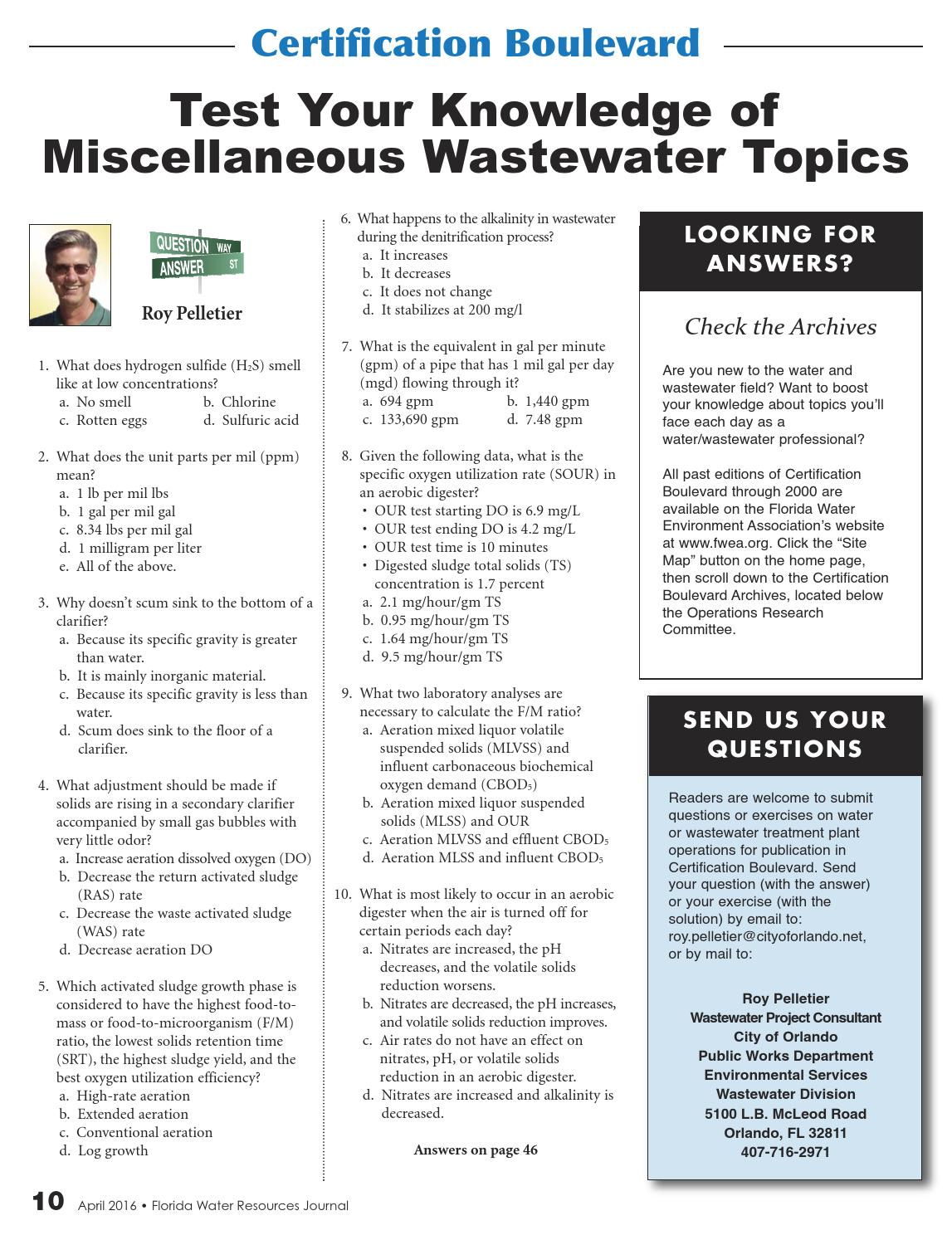 Florida Water Resources Journal - April 2016 by Florida