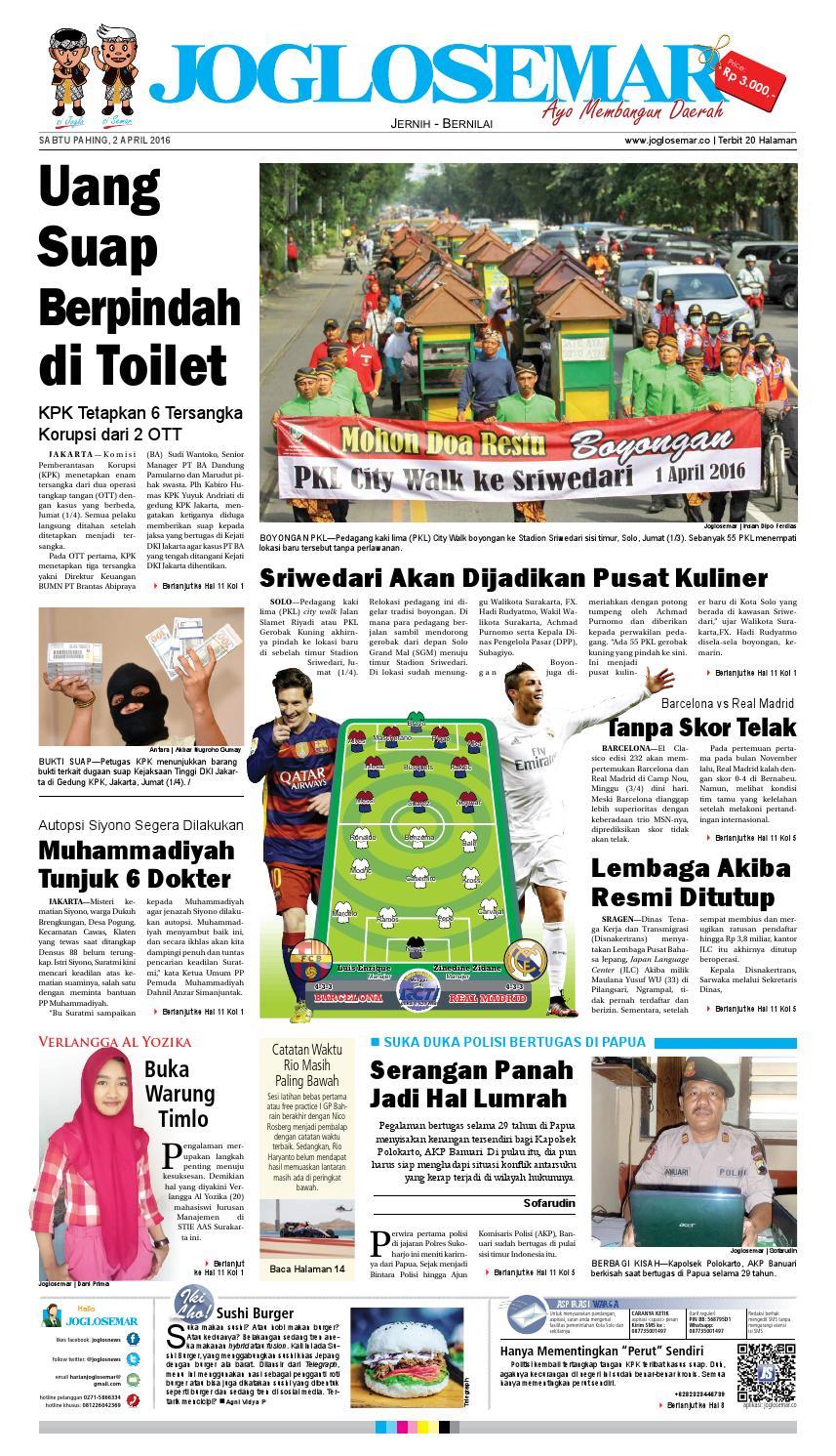 E Paper 02 April 2016 By PT Joglosemar Prima Media Issuu