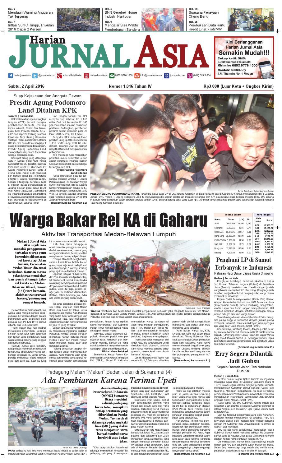 Harian Jurnal Asia Edisi Sabtu 02 April 2016 By Kopibubuk Robusta Toko Rezeki Akumandiri Malang Medan Issuu
