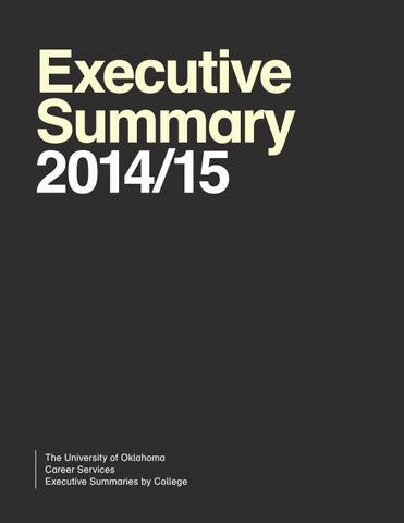OU Career Services 14/15 Executive Summary by Kayla Knight - issuu