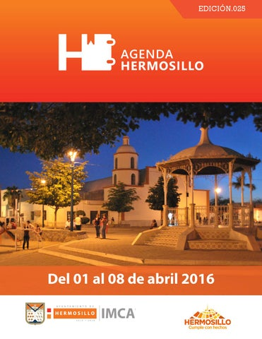 "Cover of ""Agenda Hermosillo del 1 al 8 de abril"""