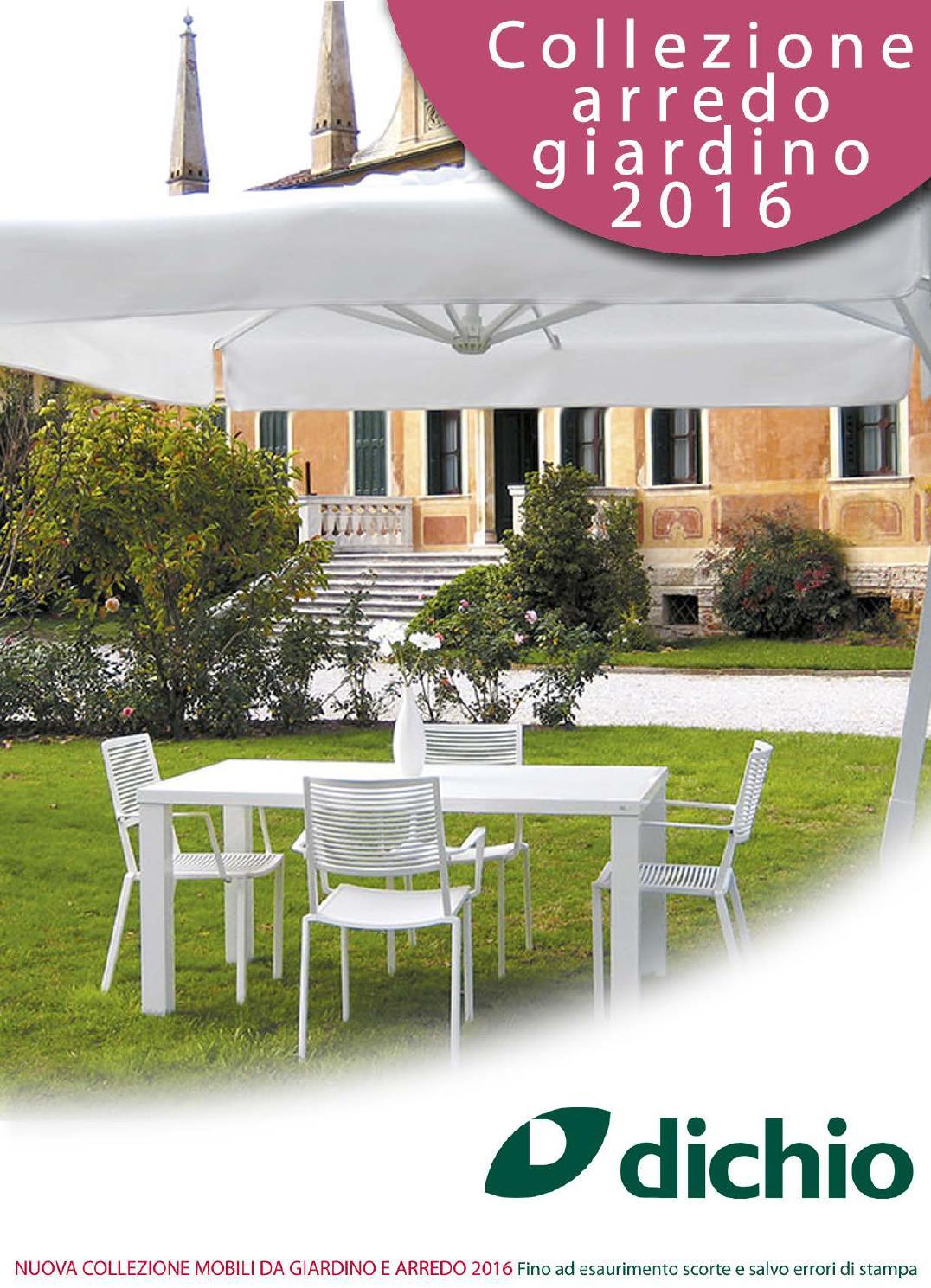 Catalogo dichio arredo giardino 2016 by giovanni dichio for Catalogo giardino