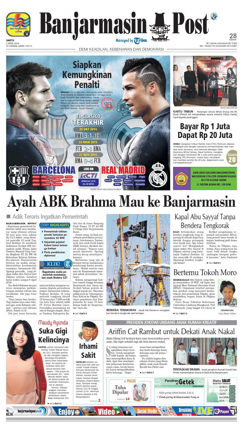 Banjarmasin Post Sabtu 2 April 2016 By Issuu Produk Ukm Bumn Tenun Pagatan Atasan Wanita 4