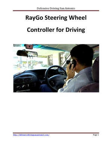 Defensive Driving San Antonio >> Raygo Steering Wheel Controller For Driving By Defensive
