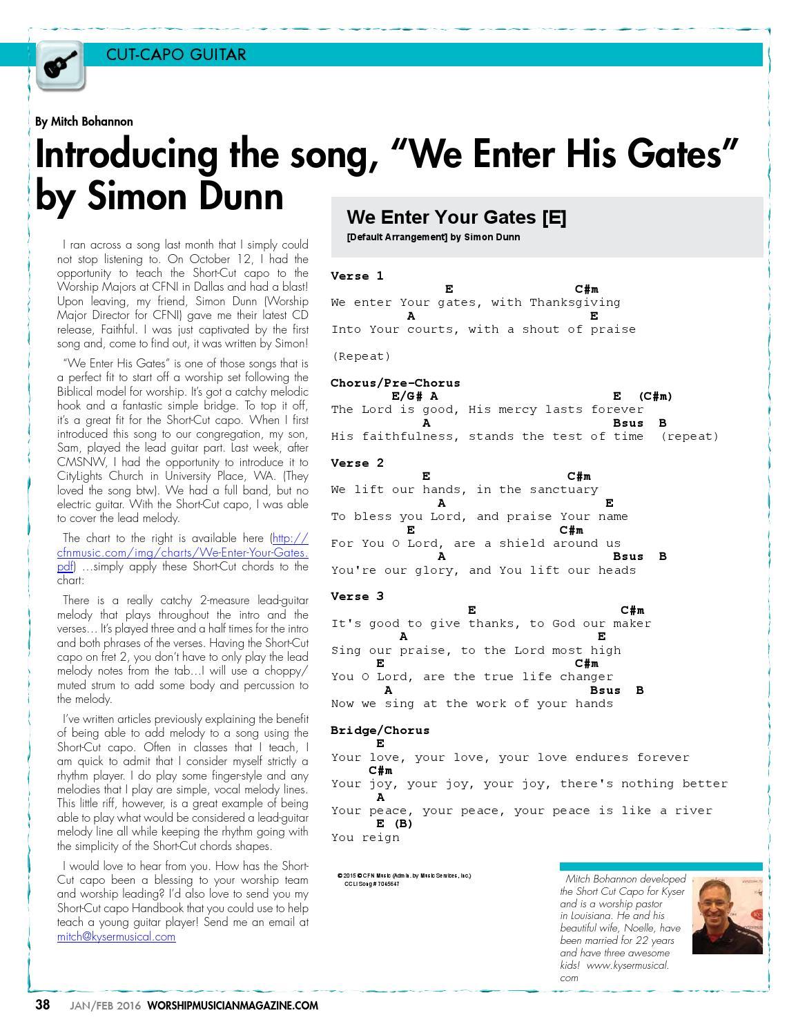 Worship Musician Magazine Janfeb 2016 By Worship Musician