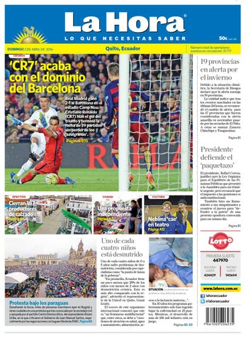Quito 03 de abril de 2016 by Diario La Hora Ecuador - issuu 463e2caa4cca9