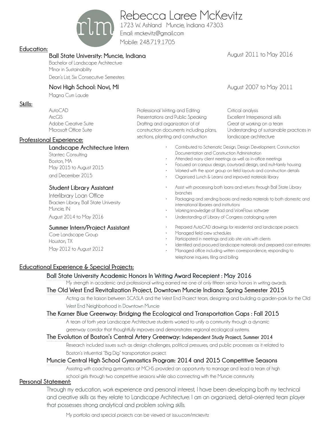 rebecca mckevitz resume by rebecca l  mckevitz