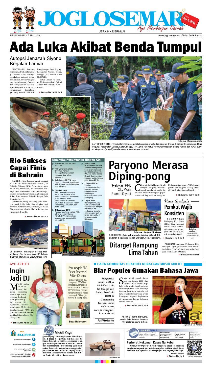 E Paper 04 April 2016 By PT Joglosemar Prima Media Issuu