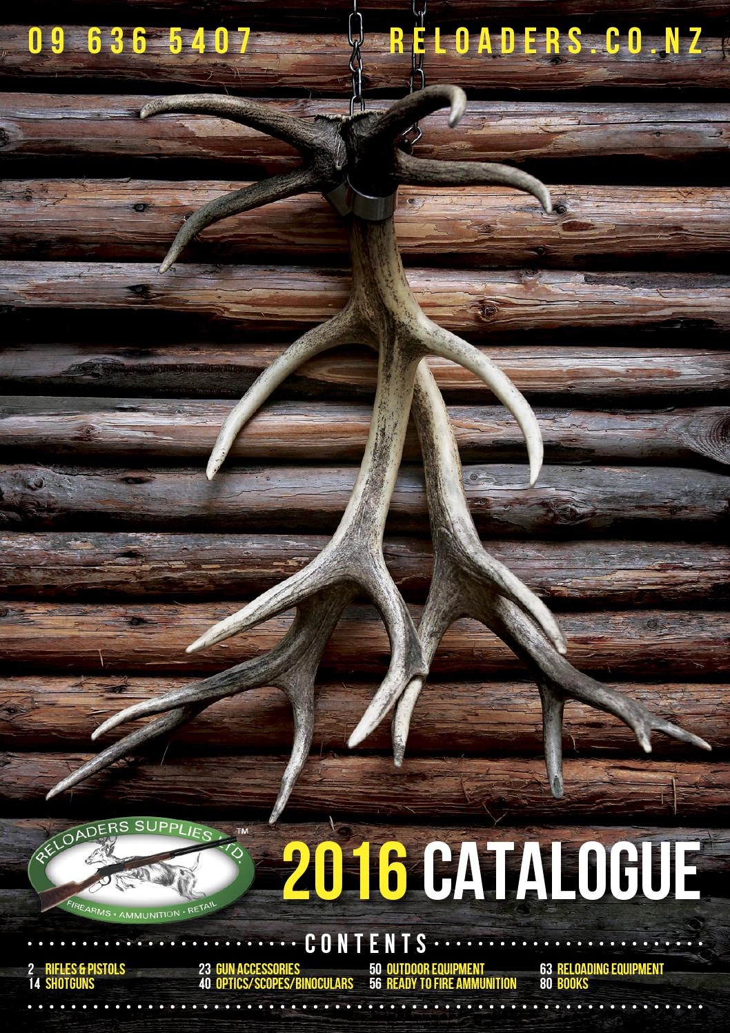 Reloaders Shooters Supplies Catalogue 2016 by Hurst Media Ltd - issuu