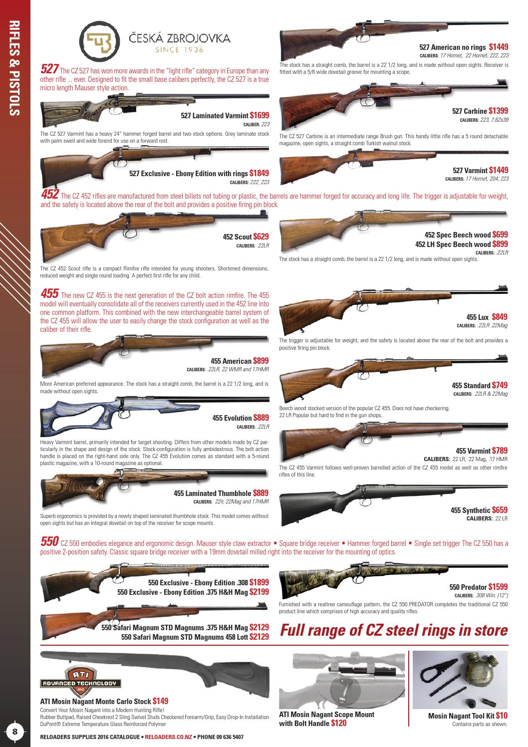 Reloaders Shooters Supplies Catalogue 2016 by Hurst Media