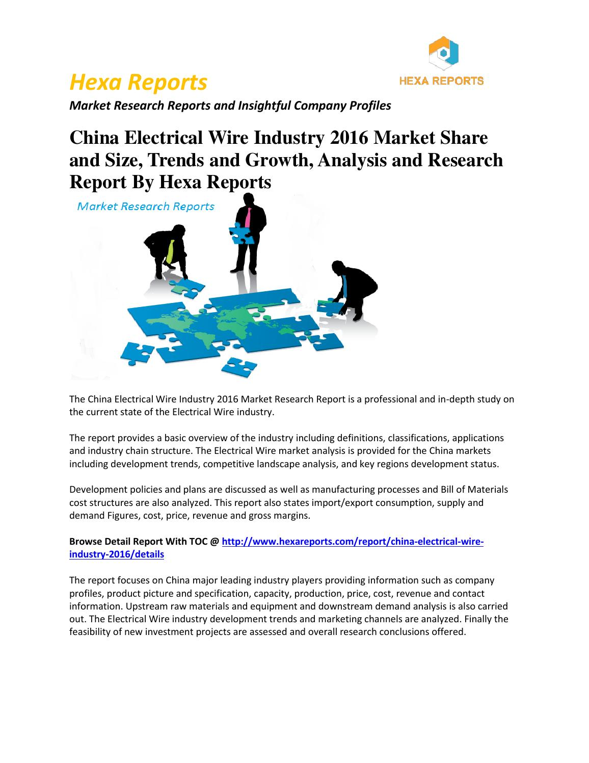 Electrical Wire Price Trends Center Home 1ft Nema 650p To L620r Converter Power Cord 14 3 Soow China Industry 2016 Market Share And Size Rh Issuu Com Types Of