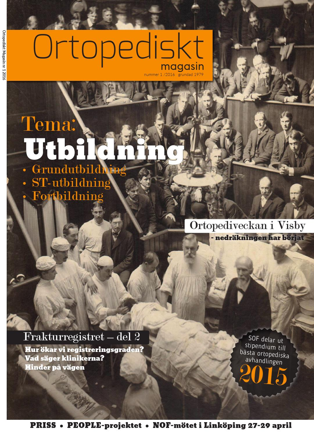 Ortopedisk Magasin nr 1 2016 by Ortopediskt Magasin - issuu 8b666c0b19682
