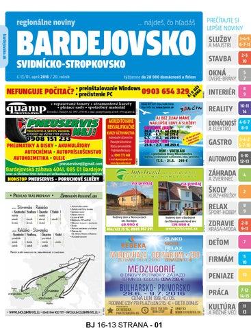 Bj1613 by REGIONPRESS - Bardejovsko - issuu 3292c65893c