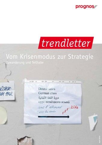 Trendletter 01/2016 - Zuwanderung und Teilhabe by Prognos AG - issuu