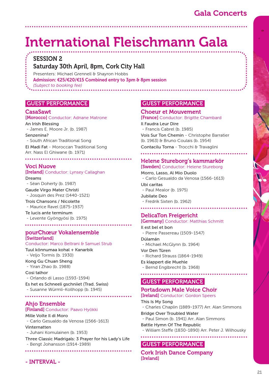 Cork International Choral Festival programme 2016 by Sinead