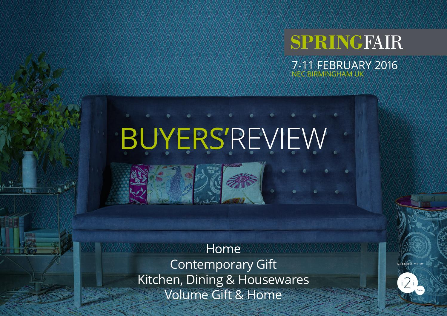 Spring Fair 2016 Buyers\' Review - Home - Contemporary Gift - Kitchen ...