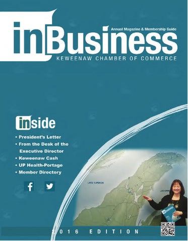 Inbusiness 2016 by keweenaw chamber of commerce issuu page 1 fandeluxe Image collections