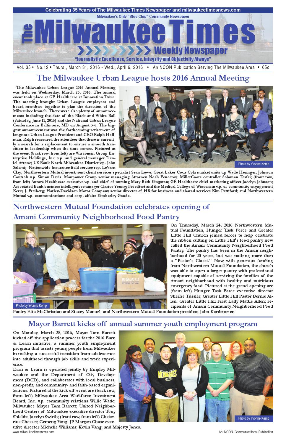 Miltimes 3 31 16 issue by Milwaukee Times News - issuu