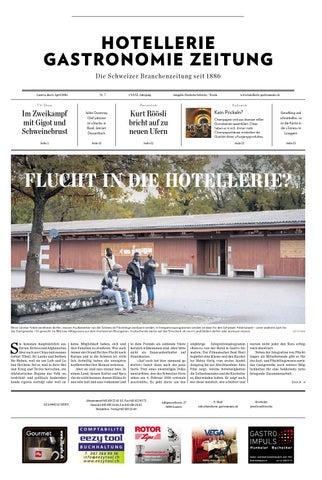 HG Zeitung 7 2016 By Hotellerie Gastronomie Verlag