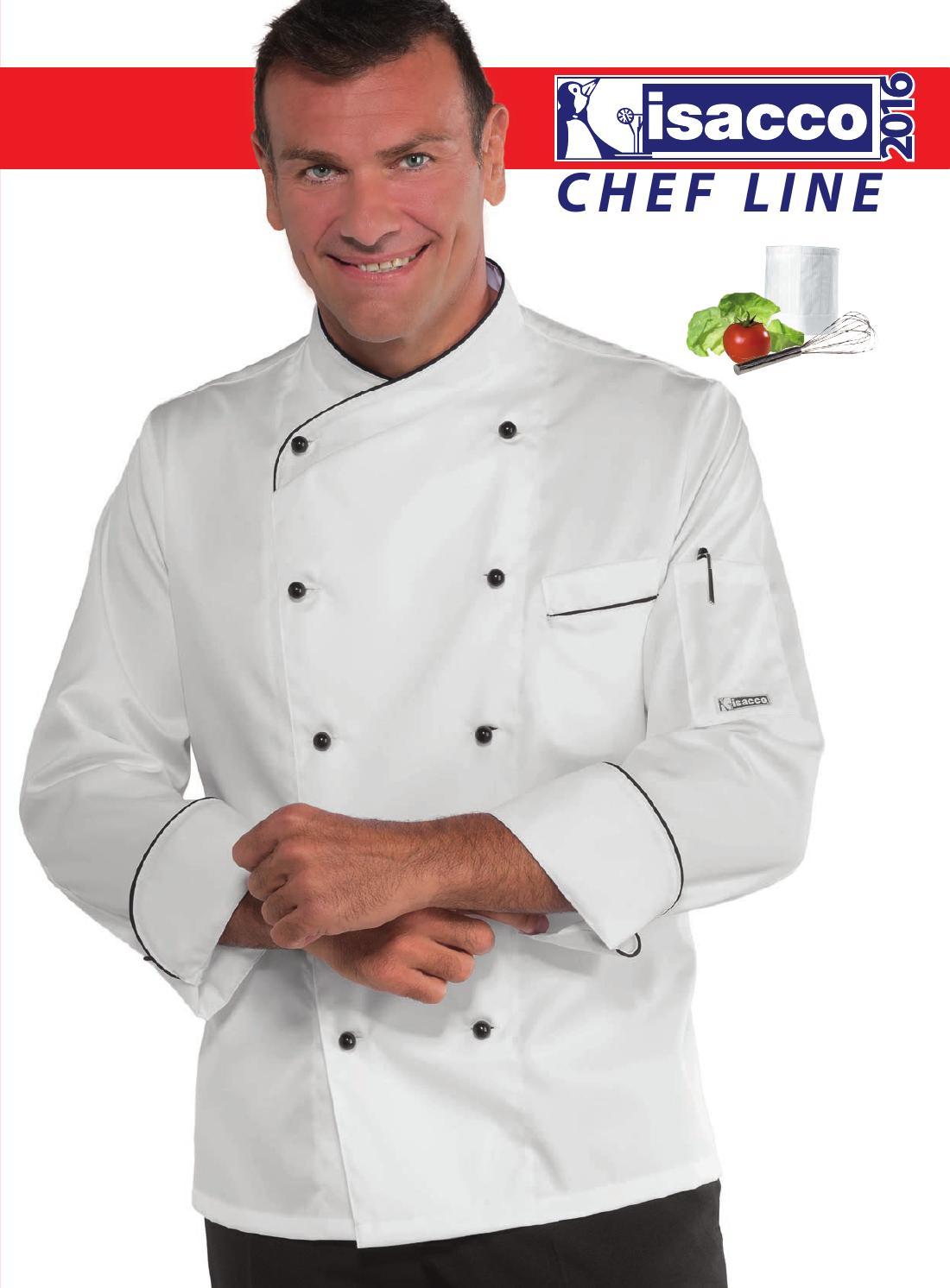 Giacca cuoco extra light mela//blu ISACCO 057026 S Verde Chiaro Blu