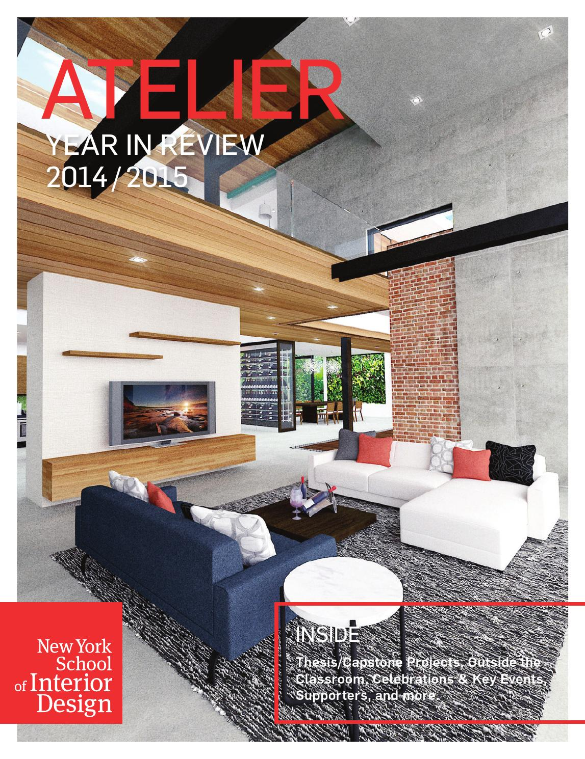 Atelier Year In Review 2014 2015 By New York School Of Interior Design