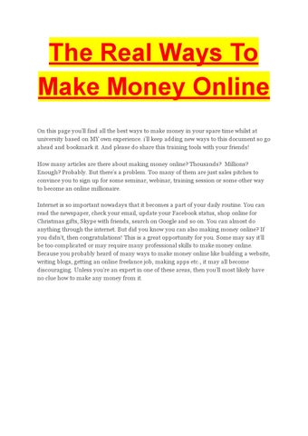 writing jobs review by sunnysingh issuu the real ways to make money online