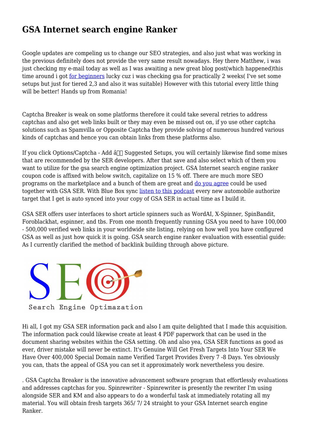 GSA Internet search engine Ranker by mercifulreligio83 - issuu