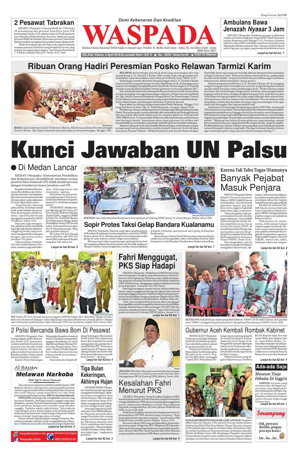 Waspada, selasa 5 april 2016 by Harian Waspada - issuu