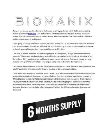 http naturalsmaleenhancement com biomanix by poyett dorothy issuu