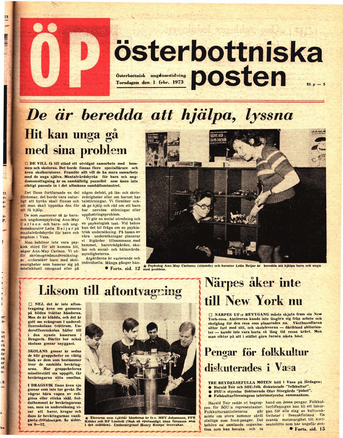 Österbottniska Posten (ÖP) nr. 5 1973 by Österbottniska Posten - issuu e8cbc5fd5c5d2