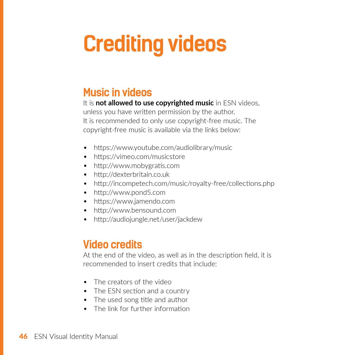 ESN Visual Identity Manual 2015 by Erasmus Student Network