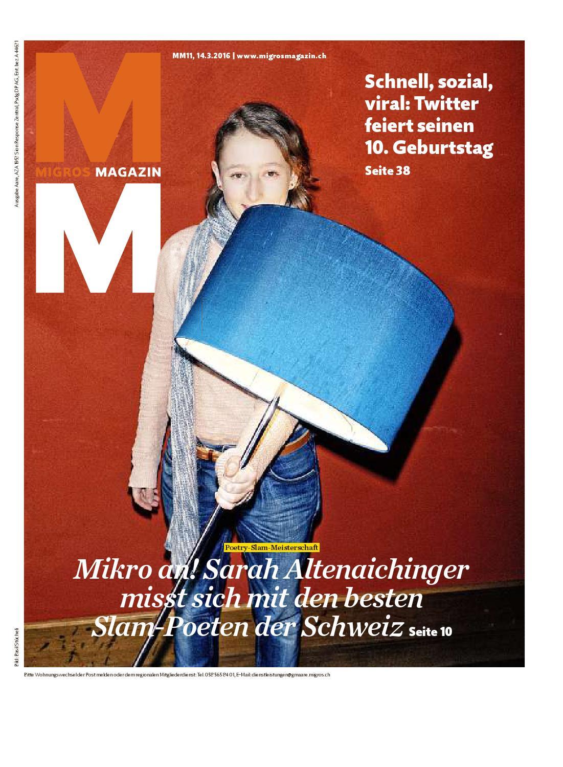 Migros magazin 11 2016 d aa by Migros-Genossenschafts-Bund - issuu