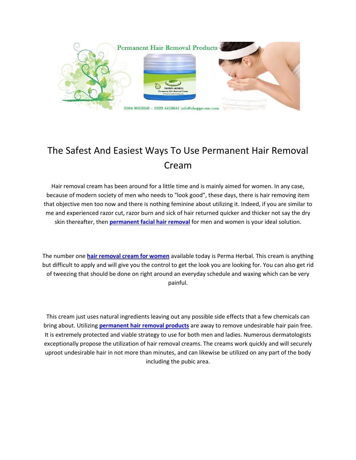Permanent Hair Removal Cream In Pakistan For Women And Men By