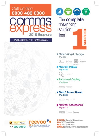 Comms express 2016 Brochure by CommsExpress - issuu